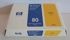 HP Nr. 80 Tintenpatrone C4848A gelb 350ml f. Designjet 1050c 1055cm MHD 07-2004
