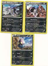 2 RARE MALAMAR & INKAY - 3 EVOLUTIONS XY Pokemon Cards- REV HOLO - MINT