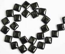 """Square Diagonal AAA Natural Onyx Black Agate Cut Faceted Smooth Loose Beads 15"""""""