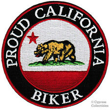 PROUD CALIFORNIA BIKER embroidered iron-on STATE FLAG PATCH emblem WEST COAST