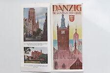 6111 Reise Falt Prospekt DANZIG Die Königin der Ostsee 1930 mit farbigen Abbild.