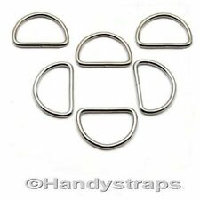 50 x 25mm Metal WELDED D Ring Buckles for Webbing