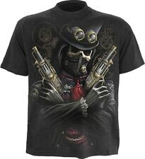 Spiral Direct STEAM PUNK BANDIT T-Shirt Top Goth Rock Biker Victorian Edwardian