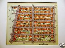 Brooklyn Map 1929 BORO PARK 52nd -57th FORT HAMILTON Matted