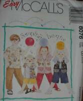 8076 UNCUT McCalls SEWING Pattern Boys Girls Child Shirt Vest Shorts Easy OOP FF