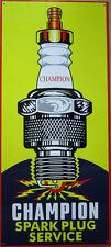 Champion Spark Plug Service Metal Sign