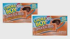 4 Pads CHORE BOY Copper Scrubbers Scorring Sponges Cleaning Kitchen Lawn Tools