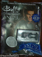 BTVS. ANGEL FIGURINE COLLECTION. 4 INCHES HAND PAINTED. W/ MAGAZINE.