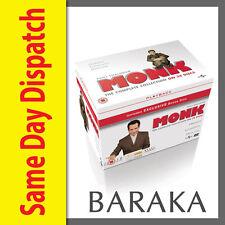 MONK: COMPLETE SERIES 1 2 3 4 5 6 7 & 8 DVD Box Set 1 - 8 New & Sealed 34 discs