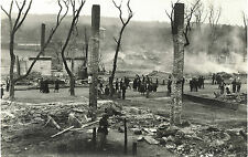 SCENES FROM DEVASTATING FIRE & TWO ORIGINAL ca 1900s REAL PHOTO POSTCARDS