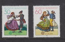 WEST GERMANY MNH STAMP DEUTSCHE BUNDESPOST 1981  EUROPA DANCERS SG 1960-1961