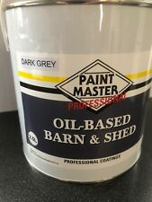 DARK GREY Barn And Shed,fence Paint 2.5LT Used By The Professionals