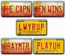 Breaking Bad / Better Call Saul *METAL STAMPED* Replica Prop License Plate Combo