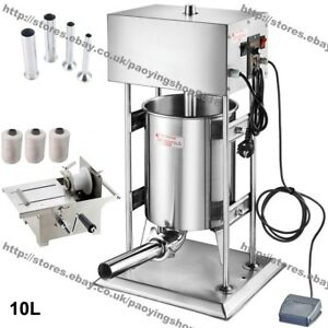 10L Electric Automatic Sausage Filler Salami Maker + Sausage Tying Machine