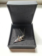Final Fantasy Xiii Lightning Silver Necklace Pendant Square Enix Official w/ Box