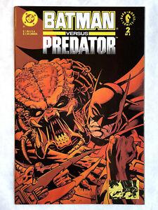 BATMAN versus PREDATOR #2 : NM : 1992 DC/Dark Horse, Gibbons, Kubert