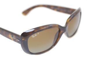 Genuine Ray-Ban JACKIE OHH RB4101 710/T5 POLARIZED Women Sunglasses BROWN HAVANA