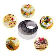 6pcs/set DIY Mousse Cake Decoration Baking Mold Small Cake Rings Round 6-12cm