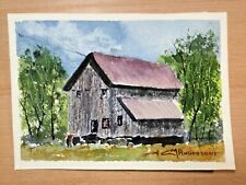 "ORIGINAL WATERCOLOR 5""x7""  OLD HOUSE. BY.:  CHARLES ANDERSON"