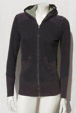 LUCY Dark Gray Cotton Zip Hoodie Cardigan Jacket Shirt Top size XS