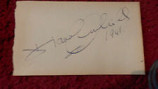 ACTRESS DIANA CHURCHILL AUTOGRAPH