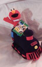 "9"" T Elmo in Black Train Plush Toy Sesame Street Sony Creative Rare Conductor"