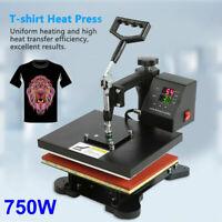 2 in 1 Heat Press Machine Dual-display Digital Sublimation T-shirt 110V 750W