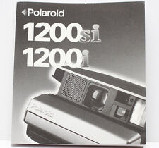 Polaroid Spectra 1200si 1200i Instant Film Camera Manual Guide Instructions