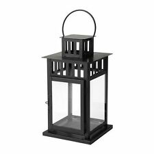 "IKEA Borrby Lantern Candle Holder For Block Candle, Black 6"" Height"