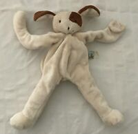 Bunnies By The Bay Puppy Dog Silly Buddy Brown Cream Pacifier Tab Plush