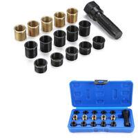 16 Pcs M14 x 1.25mm Car Spark Plug Re-thread Repair Tap Tool Reamer Inserts Kit