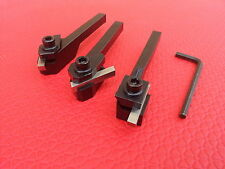 3pc HSS Square Tool Bit Holders  For Lathe Cutting 10mm Shanks fits Myford