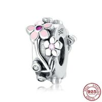 925 Sterling Silver Bead Charm Fits Original Charm Bracelet Valentine's Day Gift