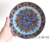 George Clews Chameleon ware wall plate 11/116 - blue flame