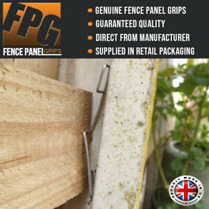 Fence Panel Grips Clips Stop Fence Panels Rattling and Banging (various packs)