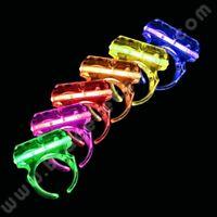 6 x Bagues Fluorescente Fluo Déguisement Fêtes Magique Lumineuse Soirée Colorée