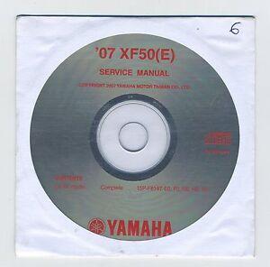 (CD6) CD MANUEL ATELIER MOTO YAMAHA XF50(E) 2007