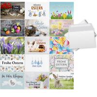 15 Osterkarten Mix 15 Motive Mix Set Umschlag Grußkarten Frohe Ostern Vintage 2