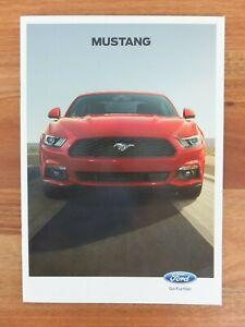 2016 Ford Mustang Sales Brochure