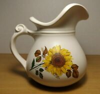 Vintage McCoy Pottery 7515 Sunflower Pitcher very good condition