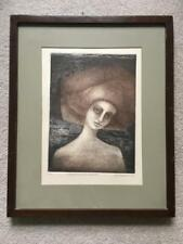 Eugenia Marcos Engraving Listed Mexican Artist Nice 1978 Pencil Signed