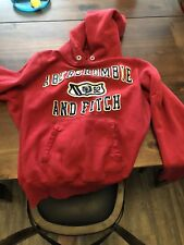 Abercrombie & Fitch A&F Red Hoodie Distressed Worn Look Adult Small Red
