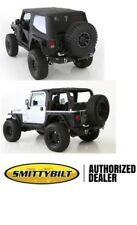 2007-18 soft top Jeep Wrangler JK 2 door BLACK TINTED Bowless Combo top 9073235