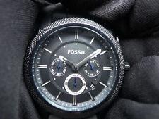 New Old Stock- FOSSIL MACHINE FS4487 -Black Dial Black Silicone Quartz Men Watch