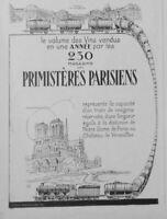 PUBLICITÉ DE PRESSE 1926 VINS PRIMISTÈRES PARISIENS - NOTRE-DAME DE PARIS