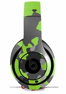 Skin for Beats Studio 2 3 Old School Camo Lime Green HEADPHONES NOT INCLUDED