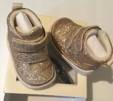 Ugg Australia Pritchard Sparkles Baby Girl Boots Gold Size 0-6 Months Infant XS