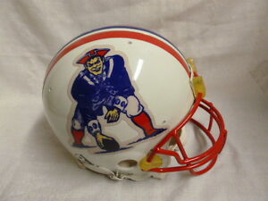 New England Patriots Authentic Riddell Full Size Pat Patriot Throwback Helmet