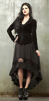 LIP SERVICE LONG HIGH LOW STEAM LACE SKIRT VICTORIAN DOLL STEAMPUNK GOTHIC GOTH