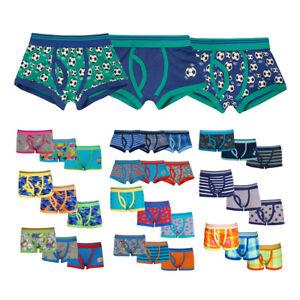 Boys Kids Children Trunks Boxer Shorts Cotton 3 Pack Elasticated Waist Underwear